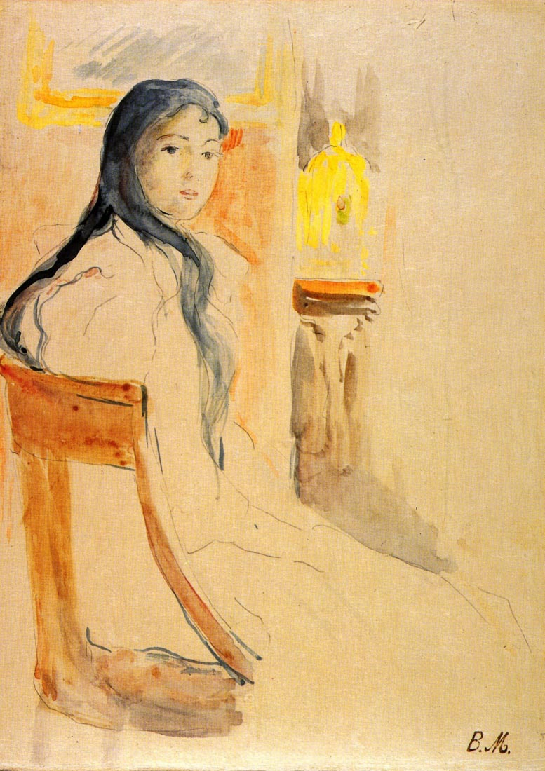 Young girl resting - Morisot