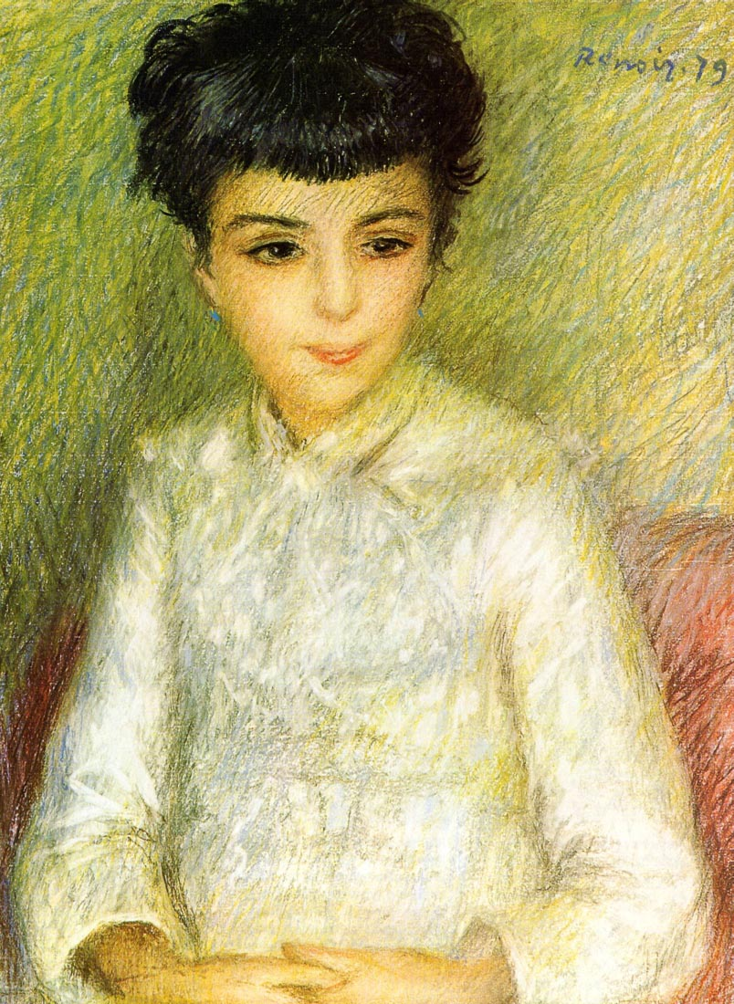 Young girl with brown hair - Renoir