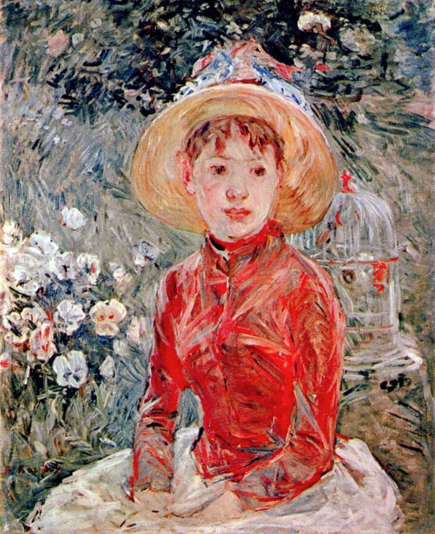 Young girl with cage - Morisot