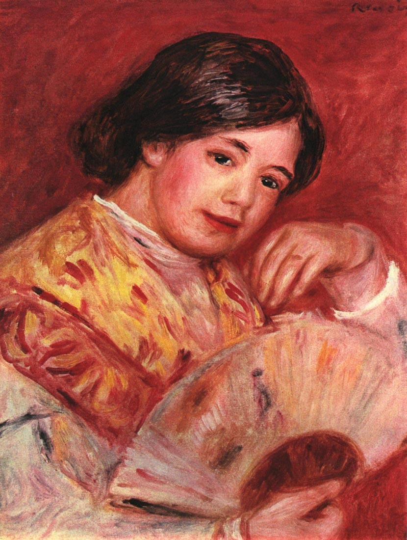Young girl with fan - Renoir