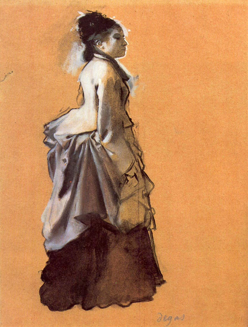 Young lady in the road costume - Degas