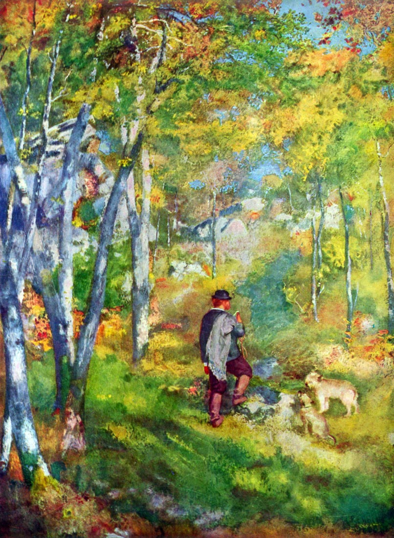 Young man in the forest of Fontainebleau - Renoir