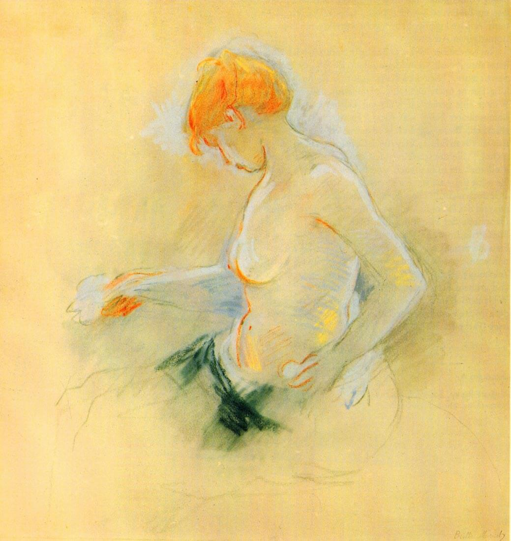 Young woman, Drying - Morisot