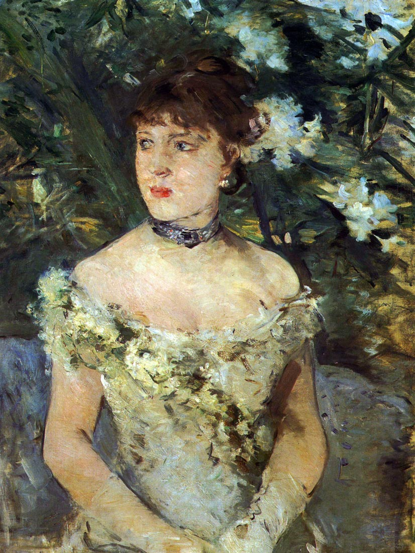 Young woman in a costume ball - Morisot