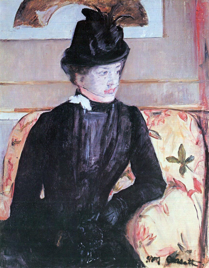 Young woman in black - Cassatt