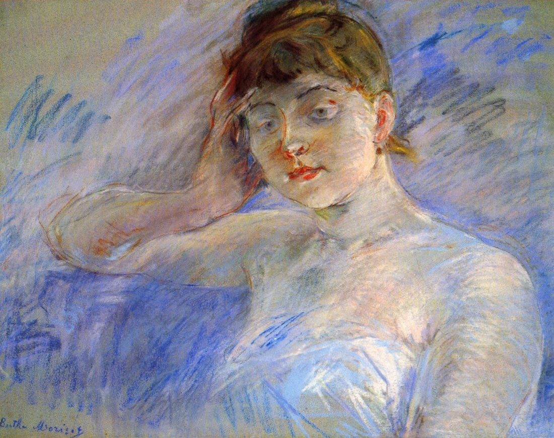 Young woman in white - Morisot