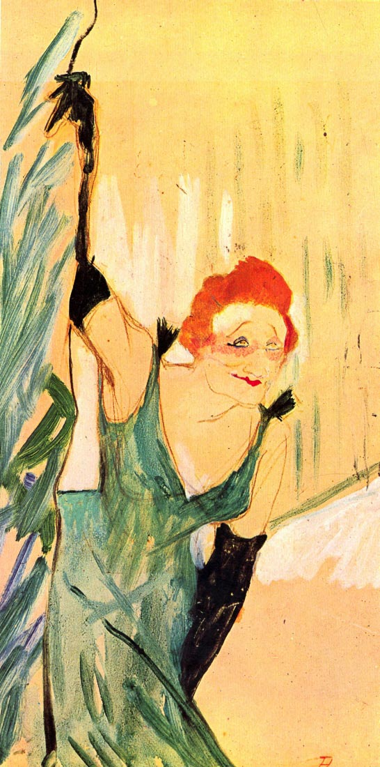 Yvette Guilbert greets the Audience - Toulouse-Lautrec