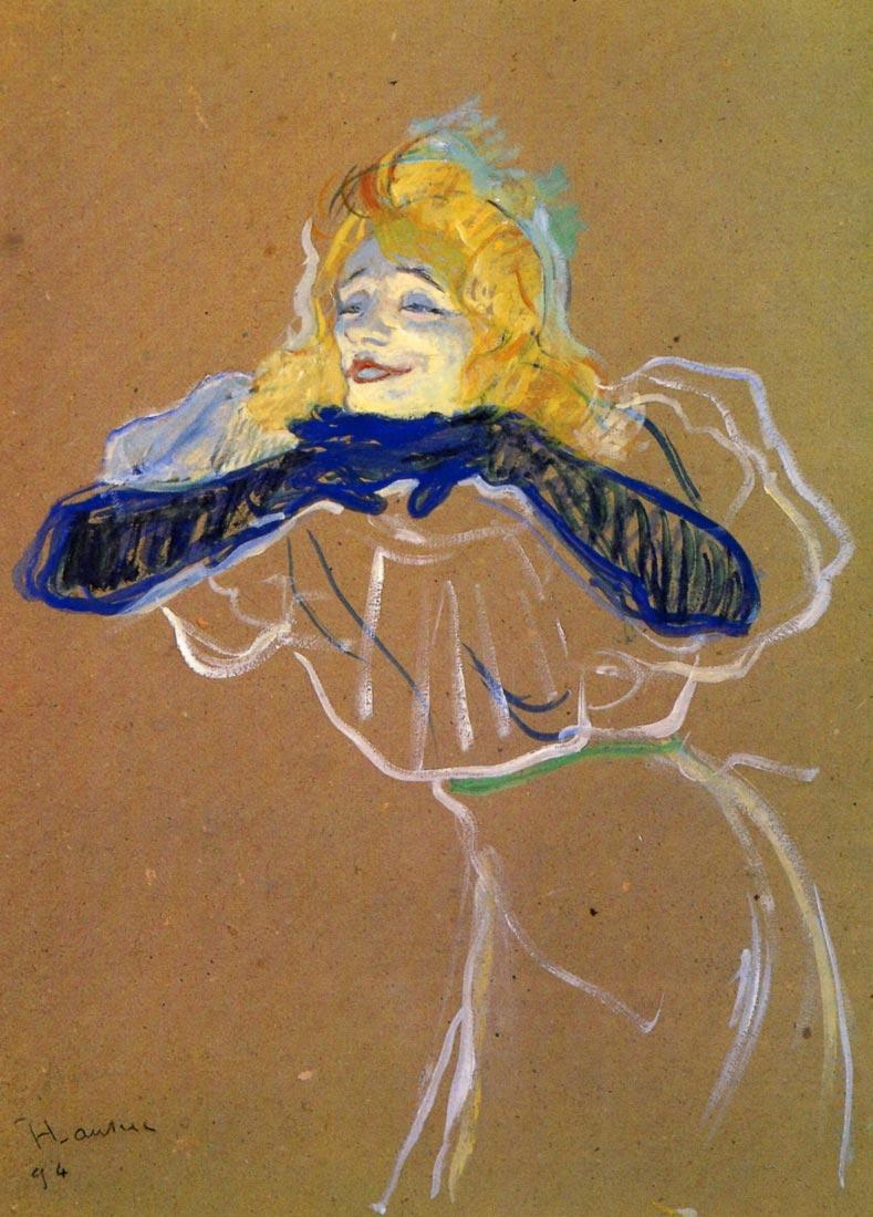 Yvette Guilbert sings - Toulouse-Lautrec