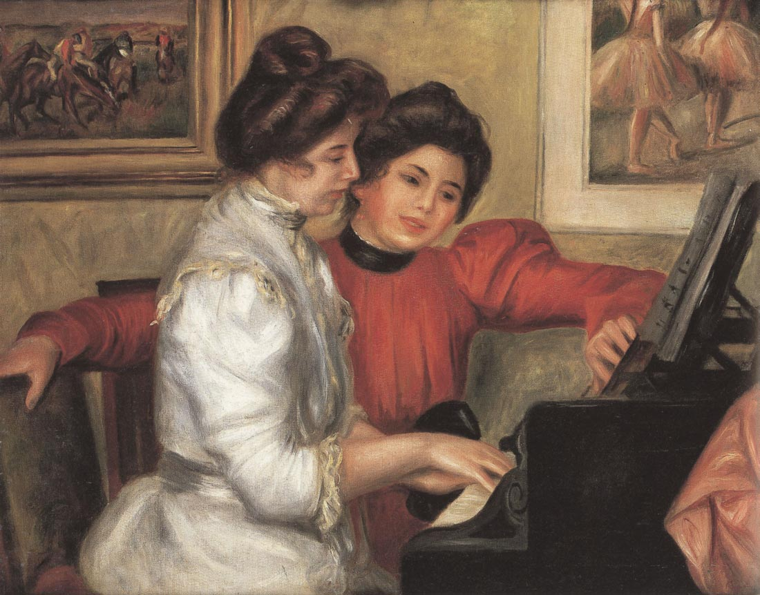 Yvonne and Christine Lerolle at the piano - Renoir