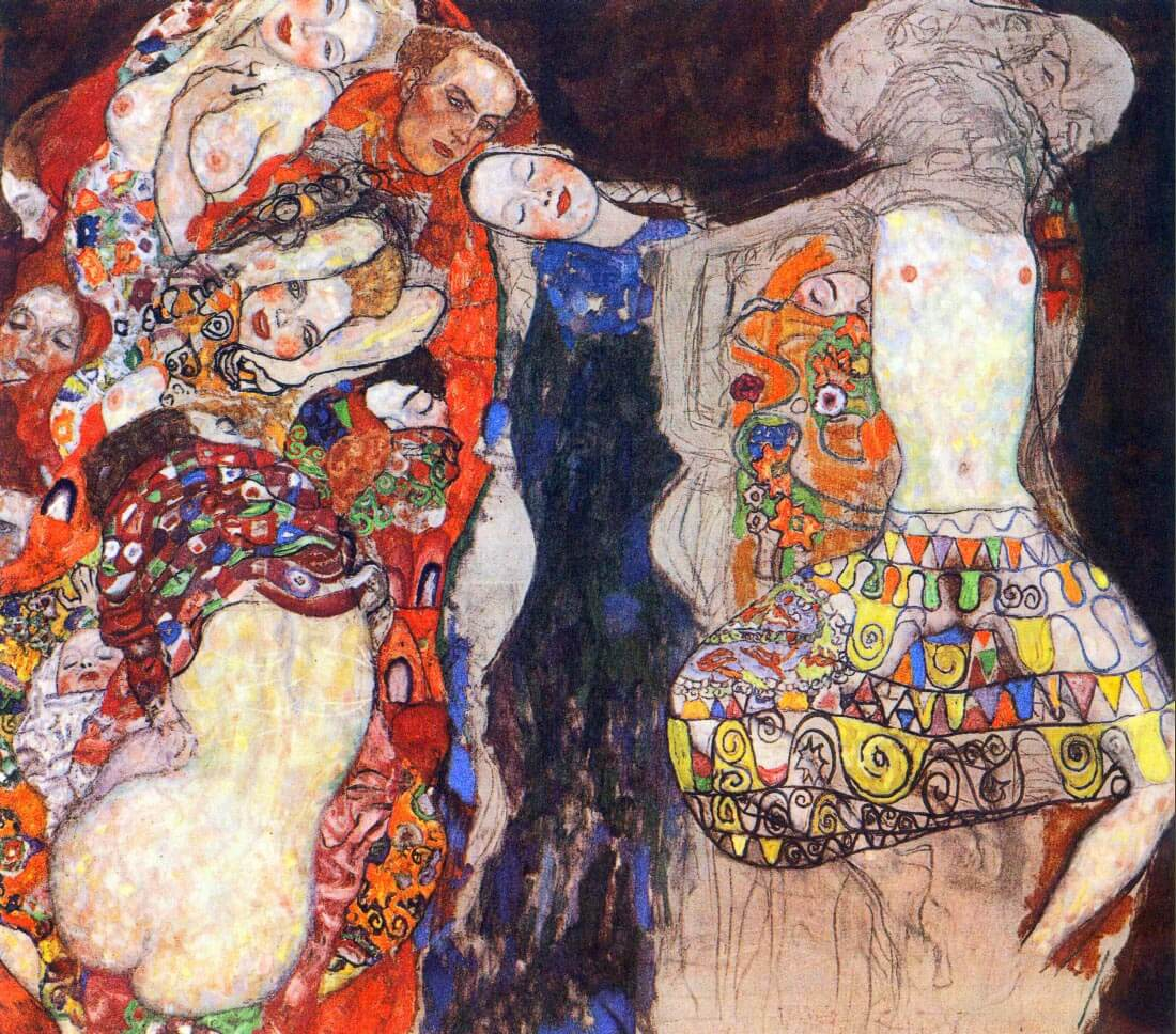 adorn the bride with veil and wreath - Klimt