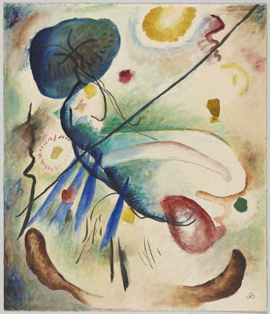 Aquarely with Line - Kandinsky