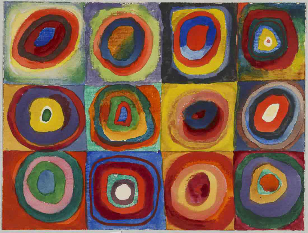 Color Study. Squares with Concentric Circles - Kandinsky