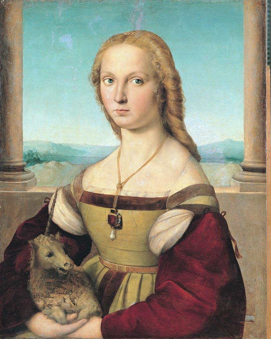 dama col liocorno - Raffaello
