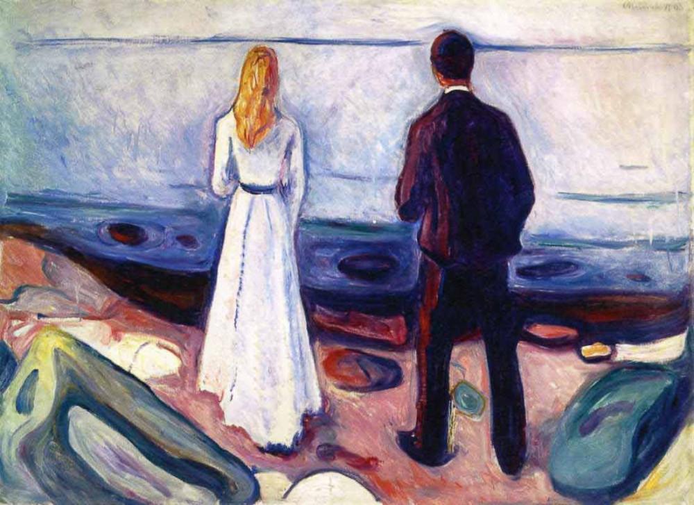 Dwie istoty - samotni (1905) - Munch