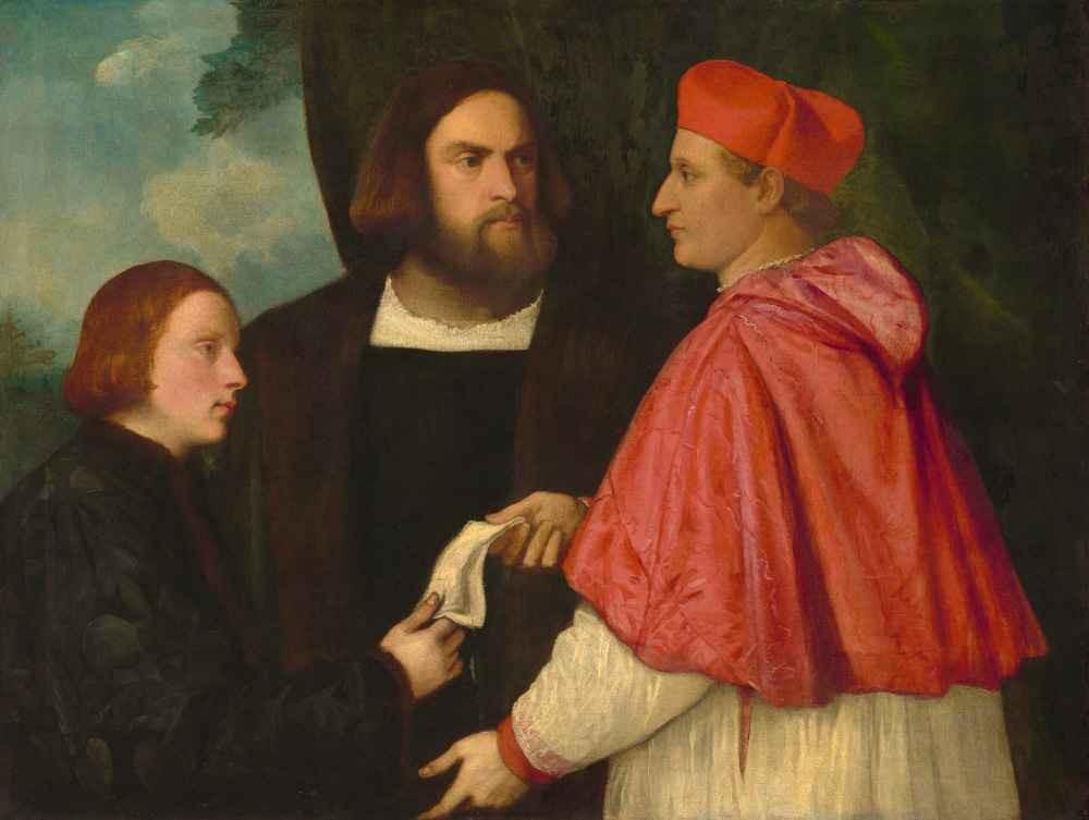 Girolamo and Cardinal Marco Corner Investing Marco, Abbot of Carrara,