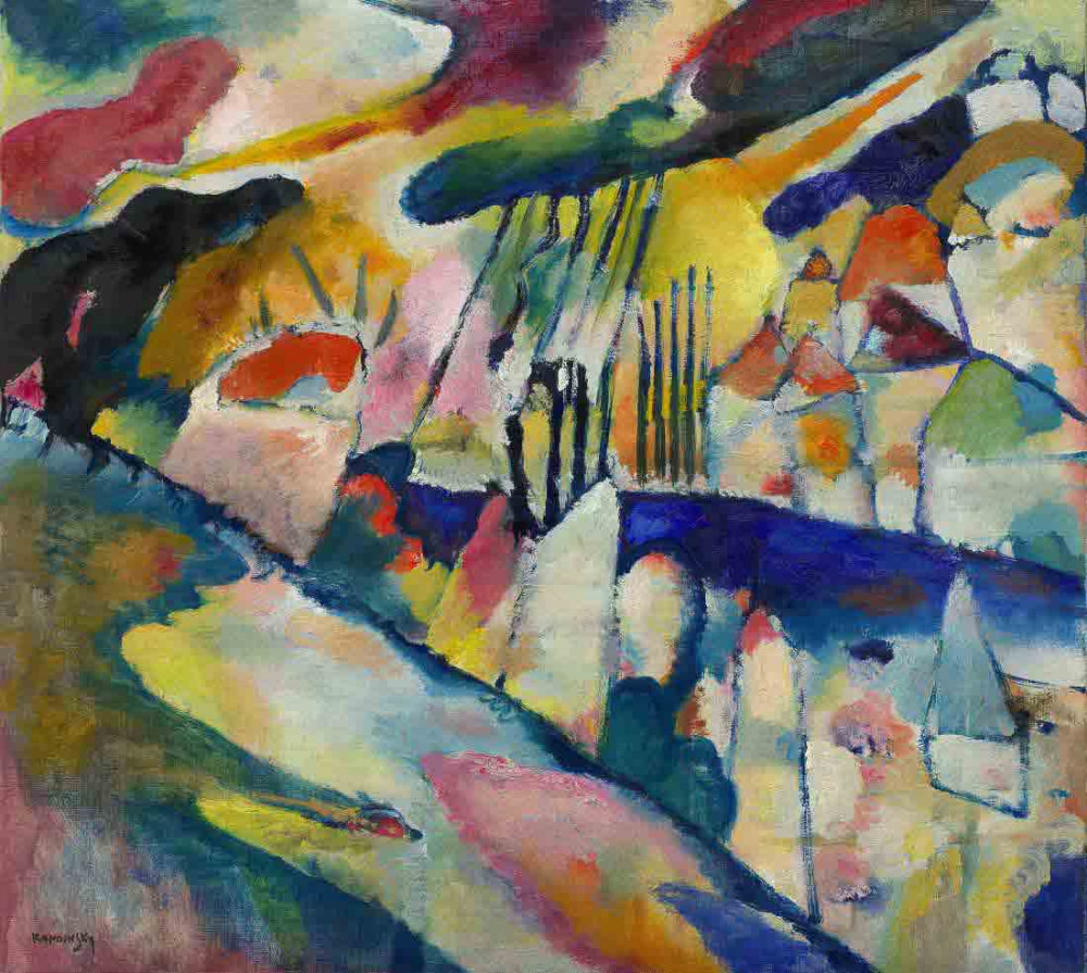 Landscape with Rain - Kandinsky