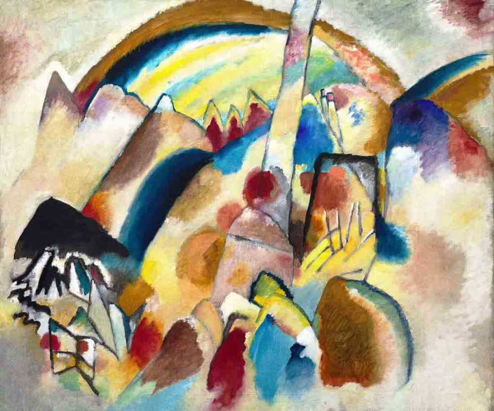 Landscape with Red Spots ver 2 - Kandinsky
