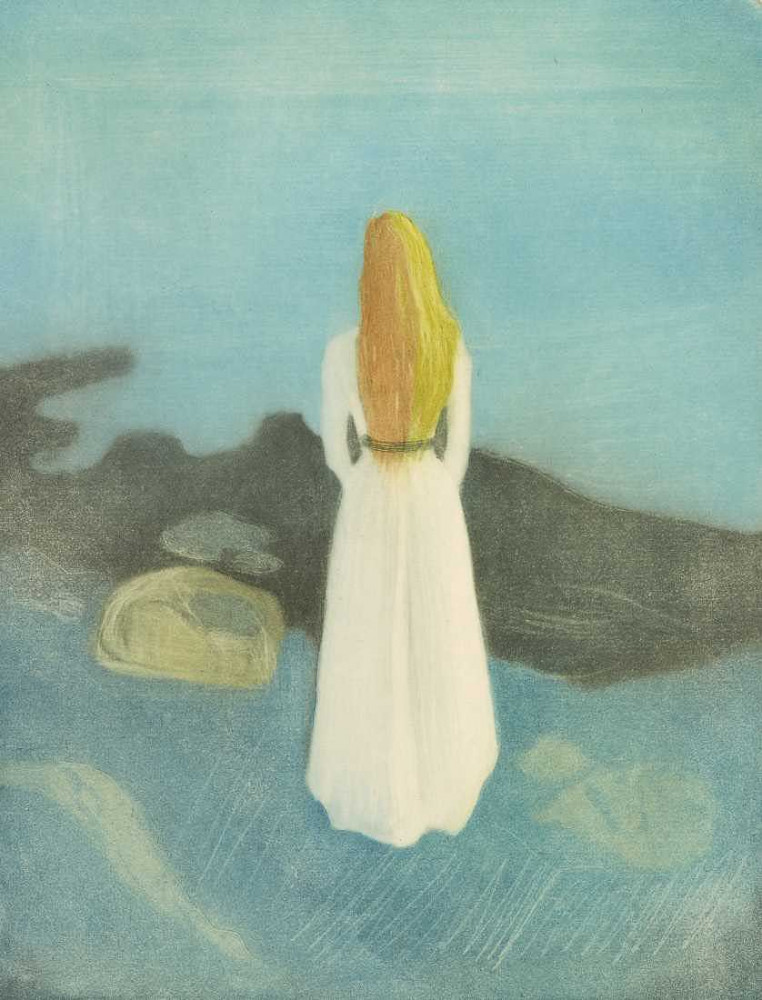 Młoda kobieta na plaży (1896) - Munch