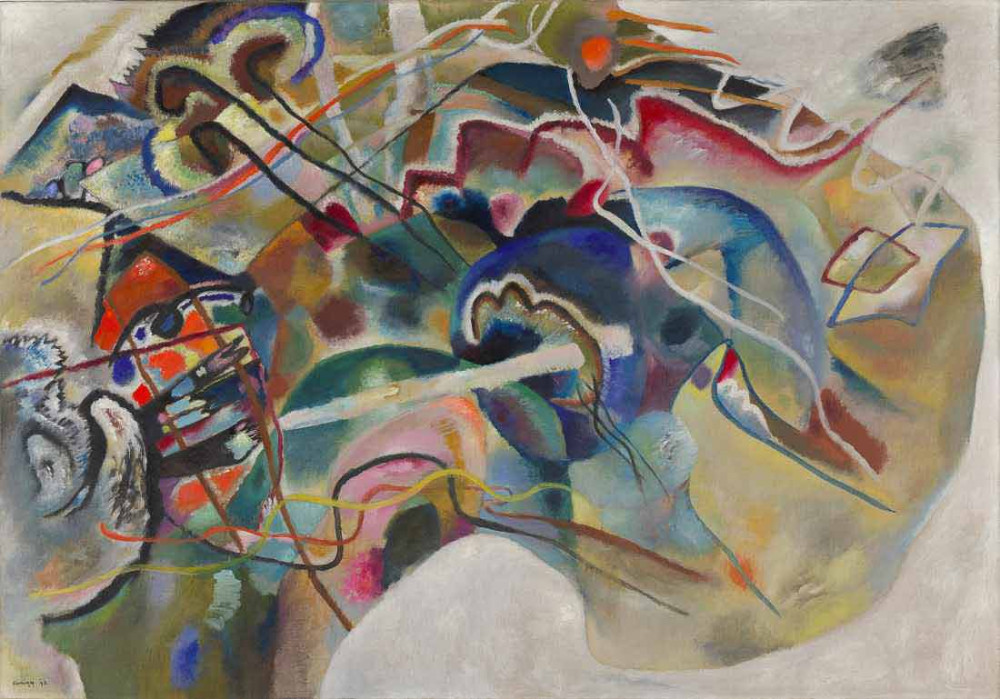 Painting with White Border - Kandinsky