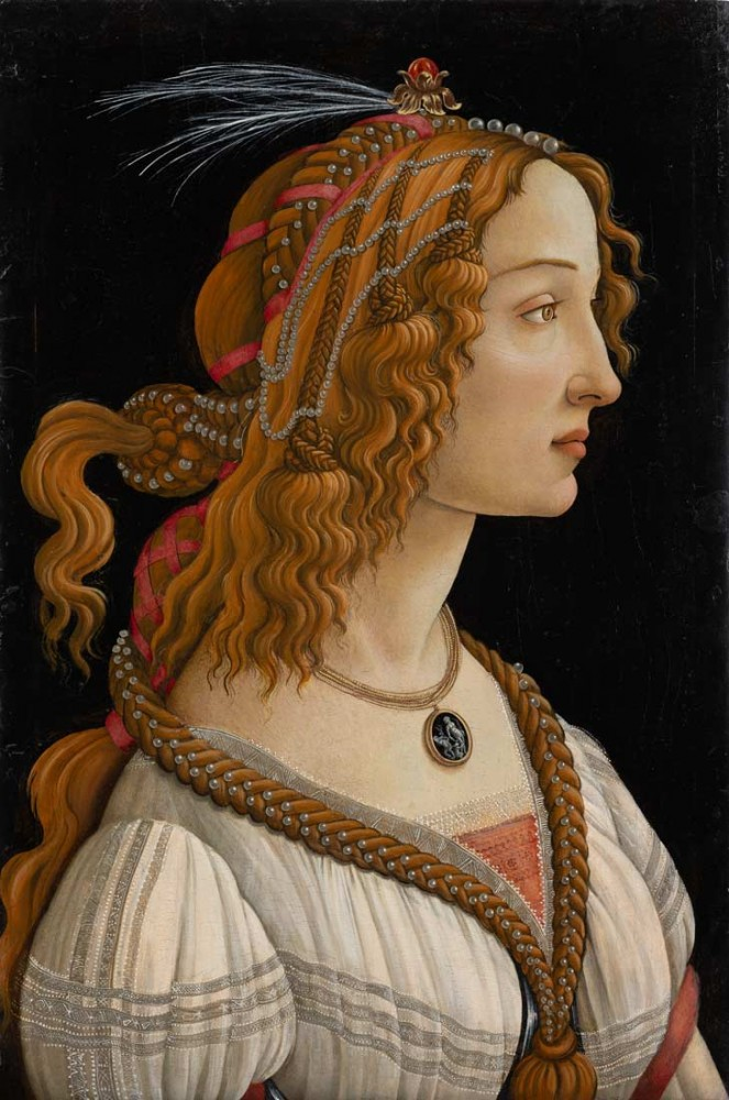 Portrait of young Simonetta Vespucci - Botticelli