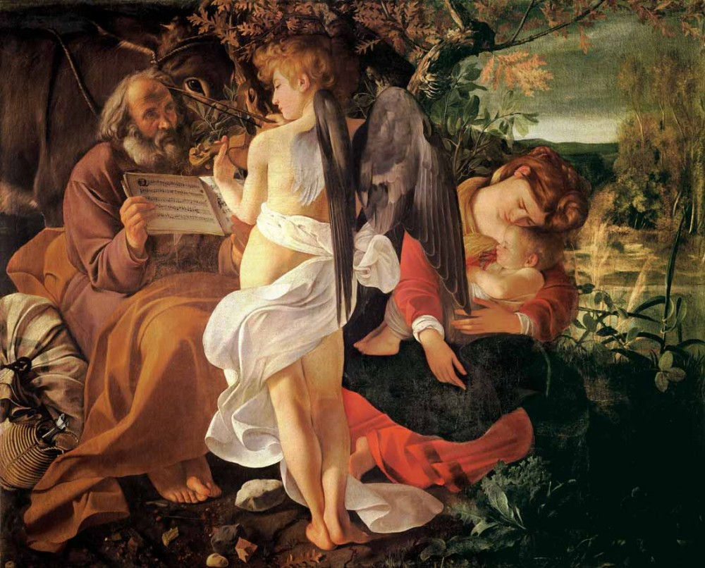 Resting on the Flight into Egypt - Caravaggio