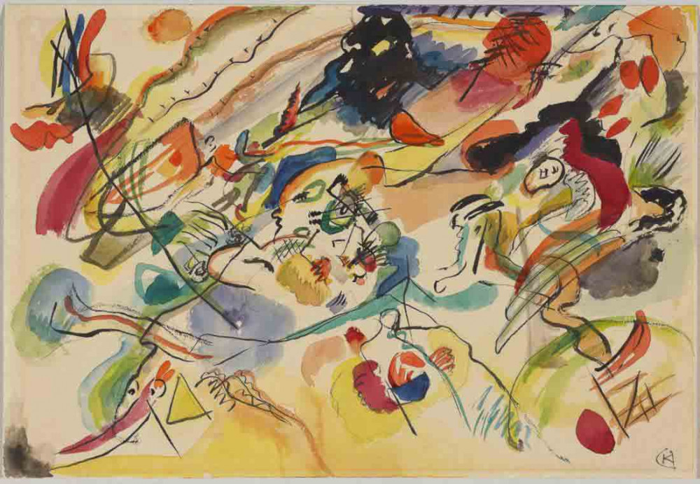 Sketch for Composition VII - Kandinsky