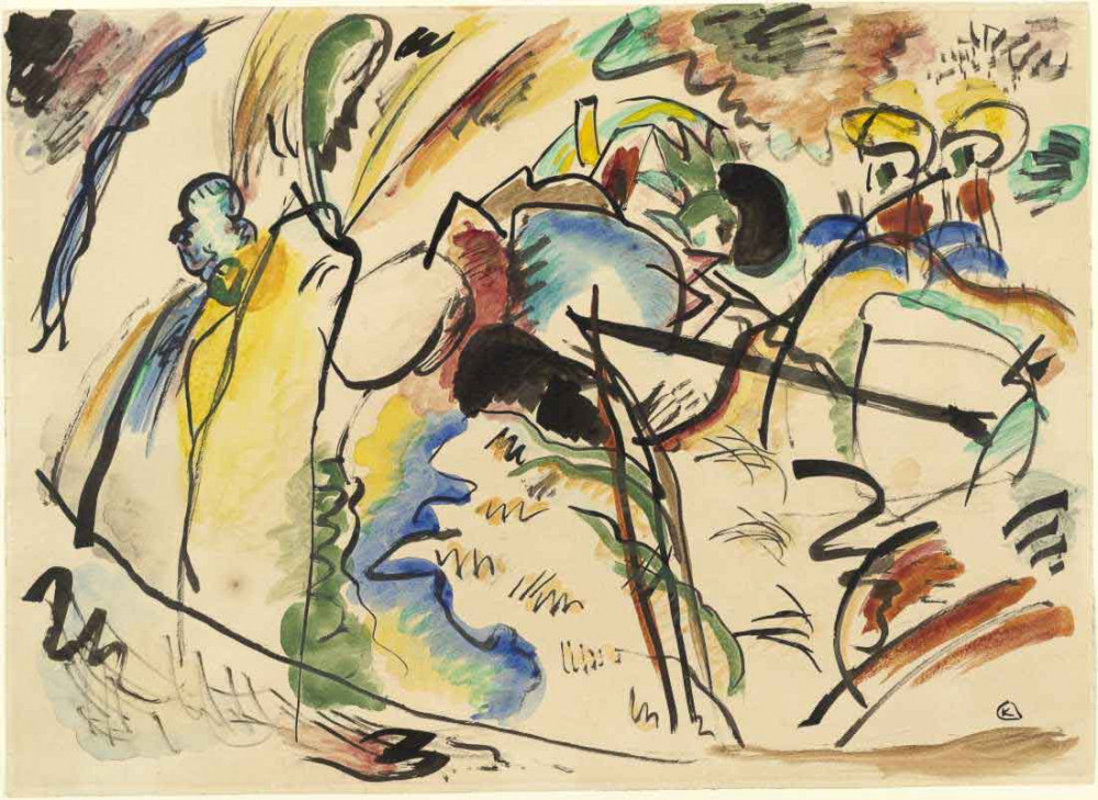Study for Painting with White Form - Kandinsky
