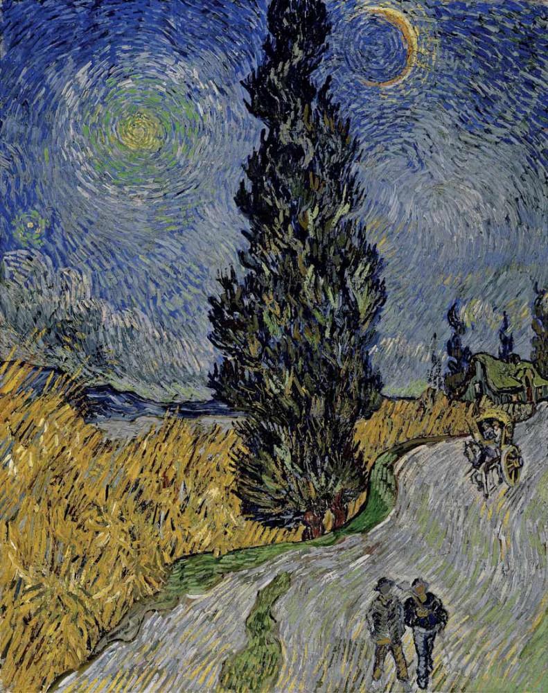 The Cypress Road - Van Gogh