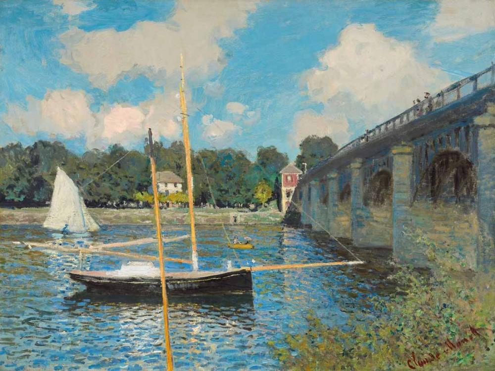 The road bridge, Argenteuil - Monet
