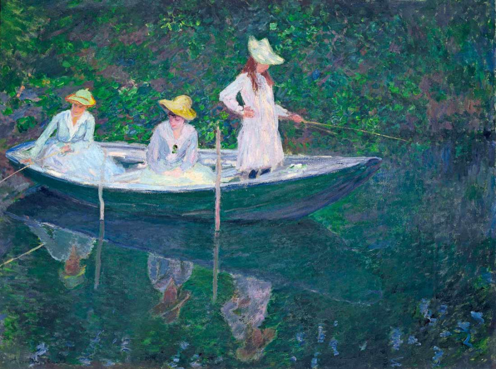 Women fishing - Monet
