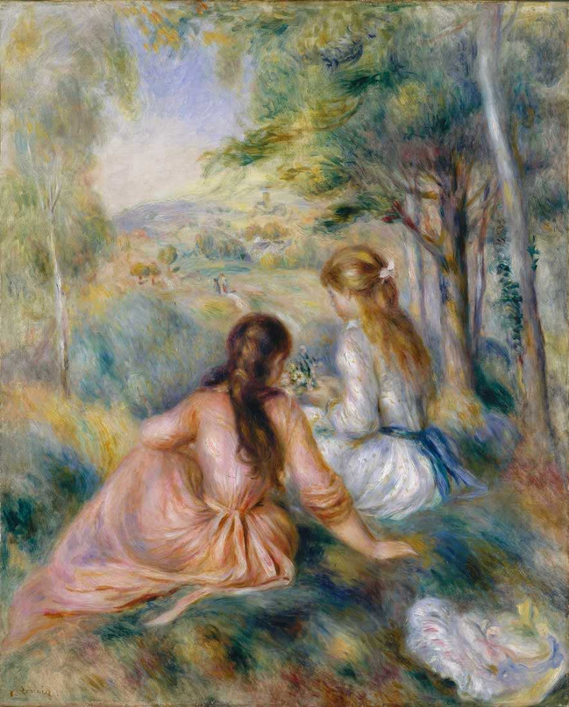 Young girls in the meadow - Renoir